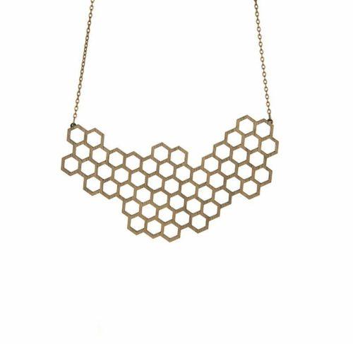 lesena-ogrlica-honeycomb